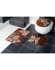 komplet brązowych dywaników łazienkowych