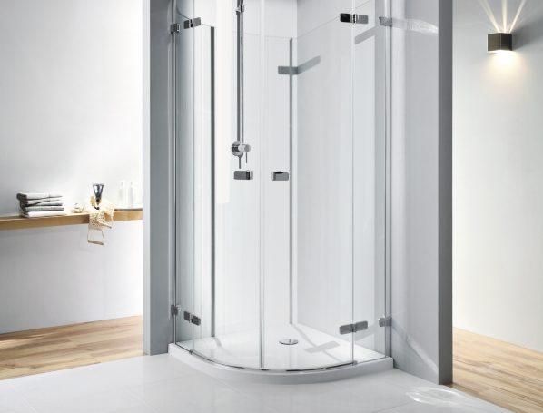 narożna kabina do prysznica