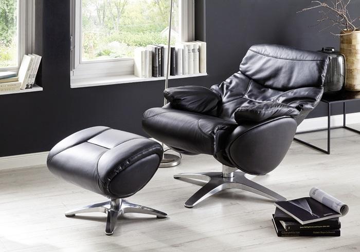 skórzany fotel relaksacyjny