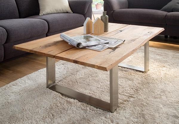 stolik kawowy z drewna